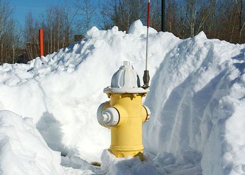 Hydrant flag on a hydrant
